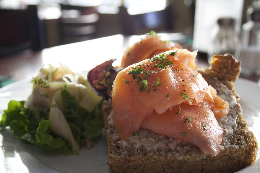 Smoked Salmon on Irish Brown Bread