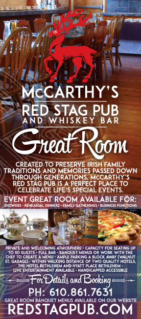 McCarthy's Great Room rack card