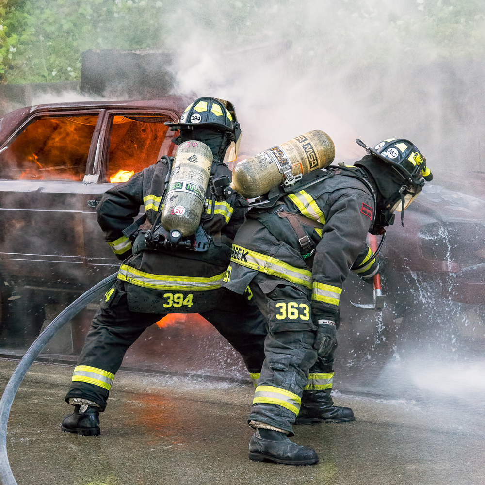 Car fire training prop
