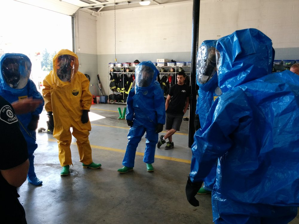 Adjusting to HAZMAT suits