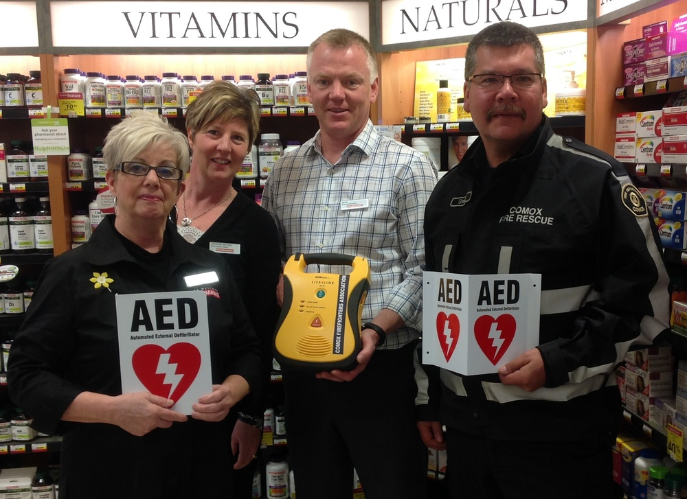 Our cost-sharing AED program helps businesses like Pharmasave purchase AEDs