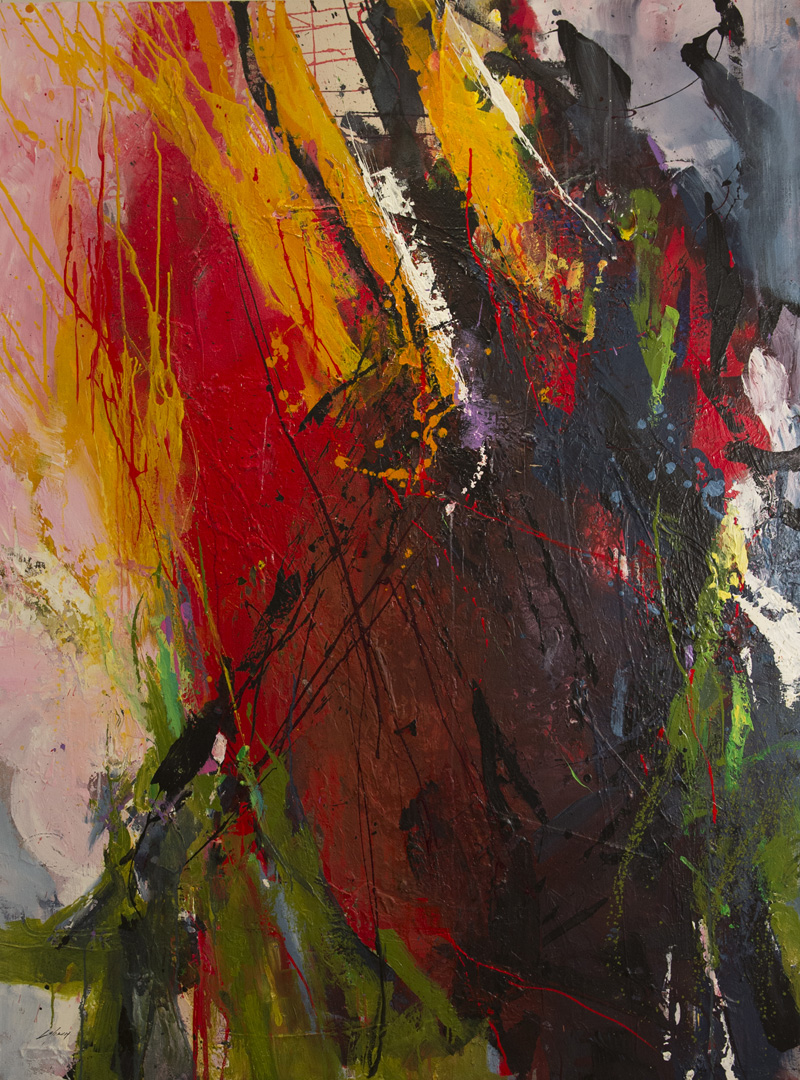"""Sans titre  Technique mixte/Toile 72x54"""" // 182,88x137,16 cm 2012"""