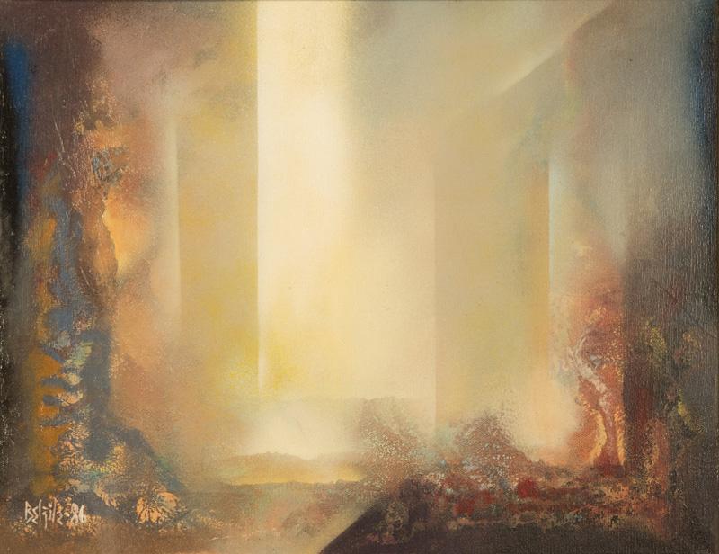 """La sérénité  Huile/Toile 14x18"""" // 35,56x45,72 cm 1986"""