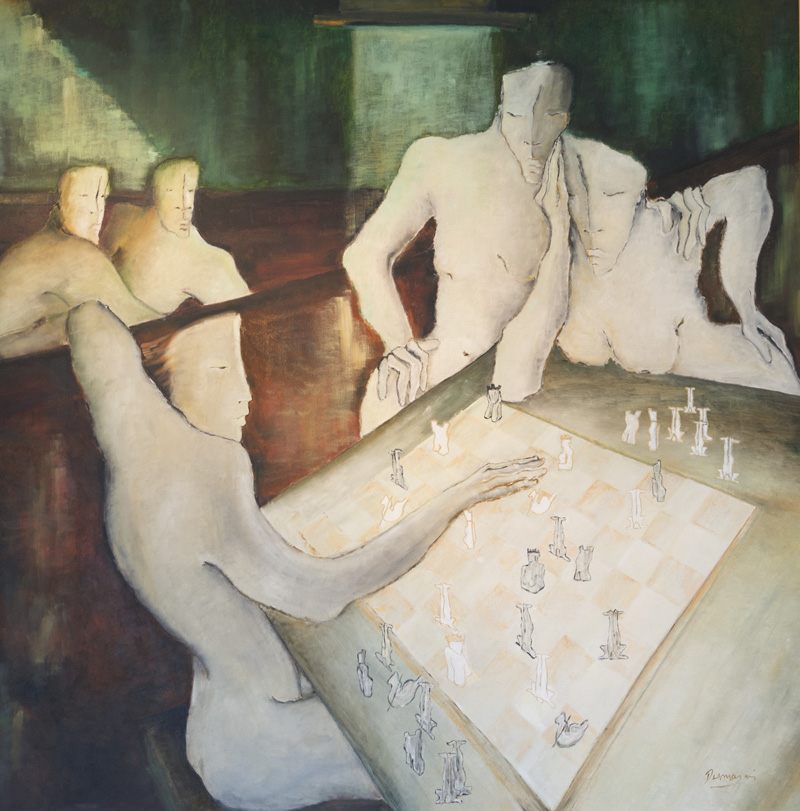 "Xaqui Mate  Huile/Toile 60x60"" // 152,4x152,4 cm"