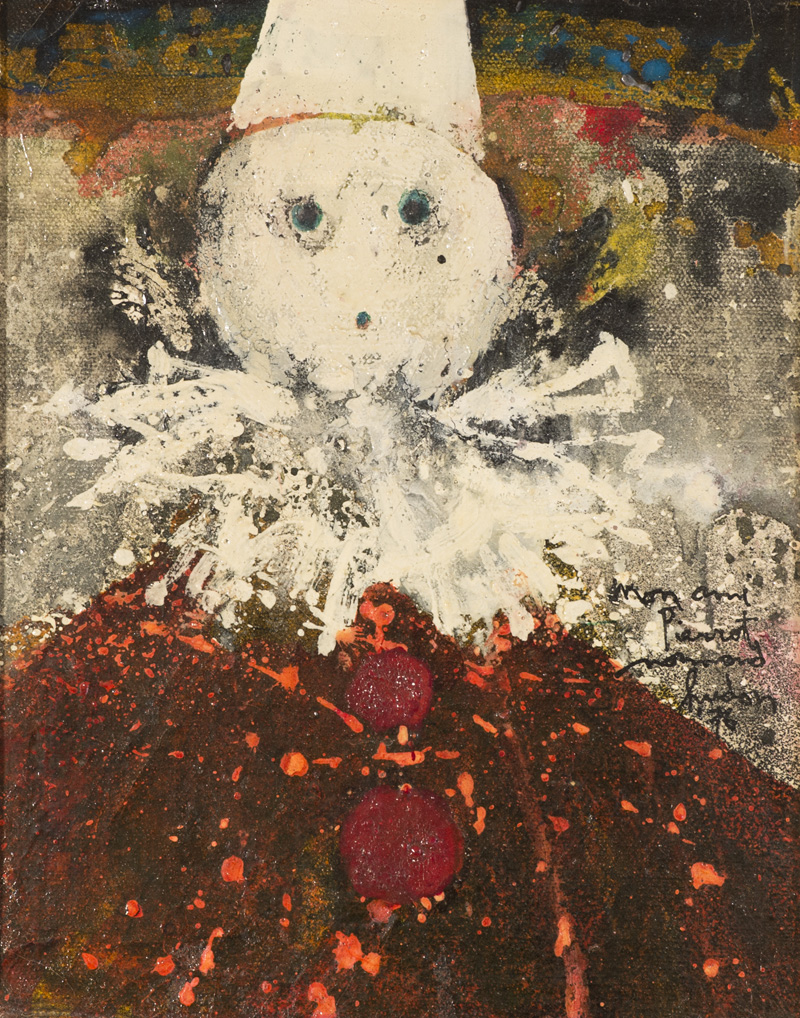 "Mon ami Pierrot Oil/Canvas 10x8"" // 25,4x20,32 cm 1976"