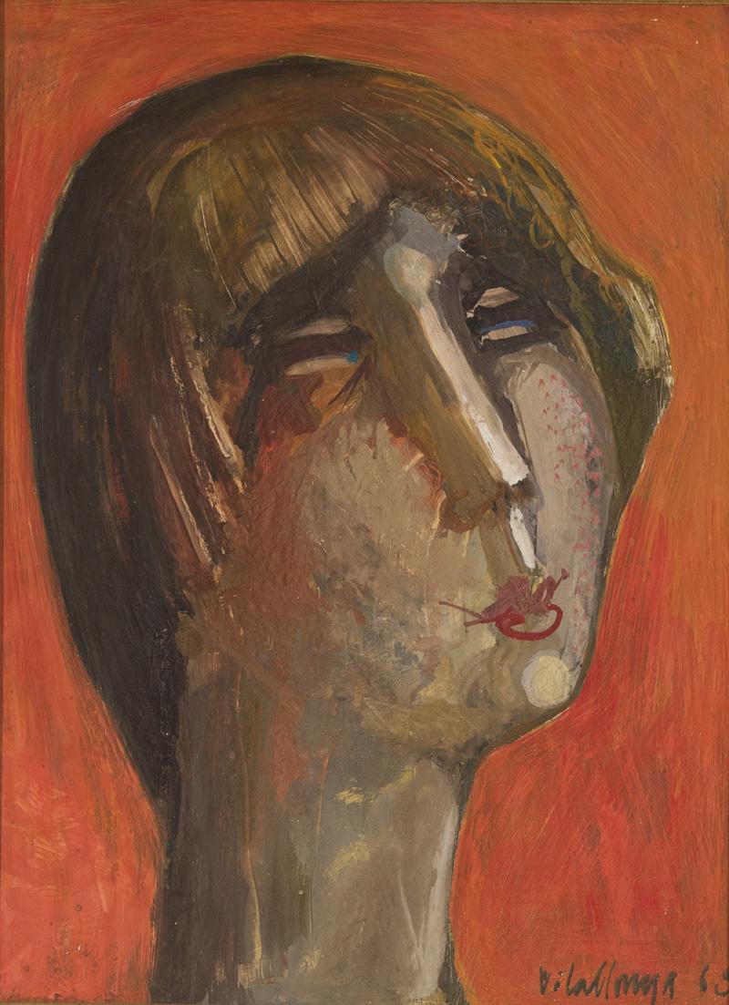 """Sans titre Huile/Panneau 16x12"""" // 40,64x30,48 cm 1968"""
