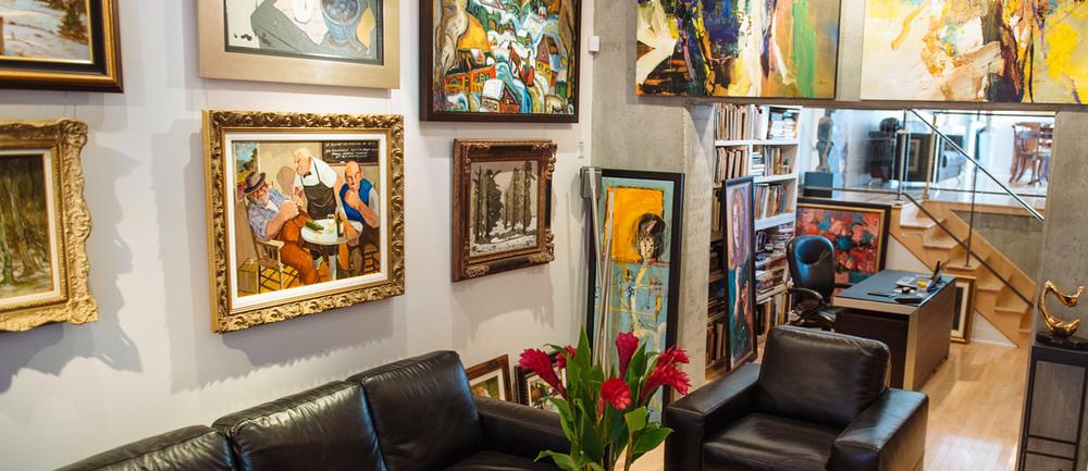 Galerie d'art privée au centre du vieux-Montéral
