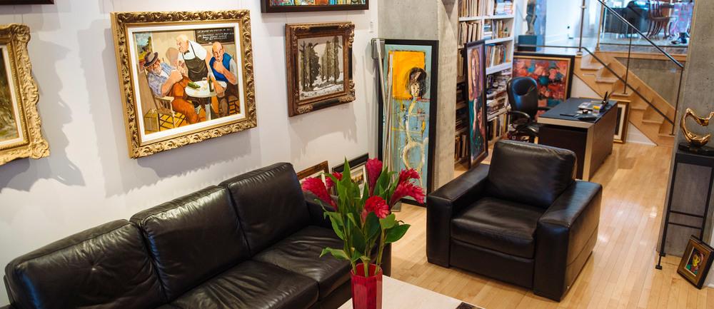 Discuter avec le propriétaire de la galerie pour faire les bons choix