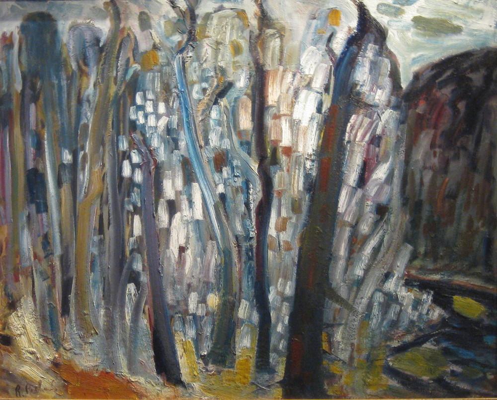 """Sans titre  HUILE/Panneau 26x32"""" // 66,04x81,28 cm"""