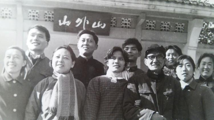 Chen Laoshi and his colleagues at the Affiliated Middle School of Zhejiang University, 1984