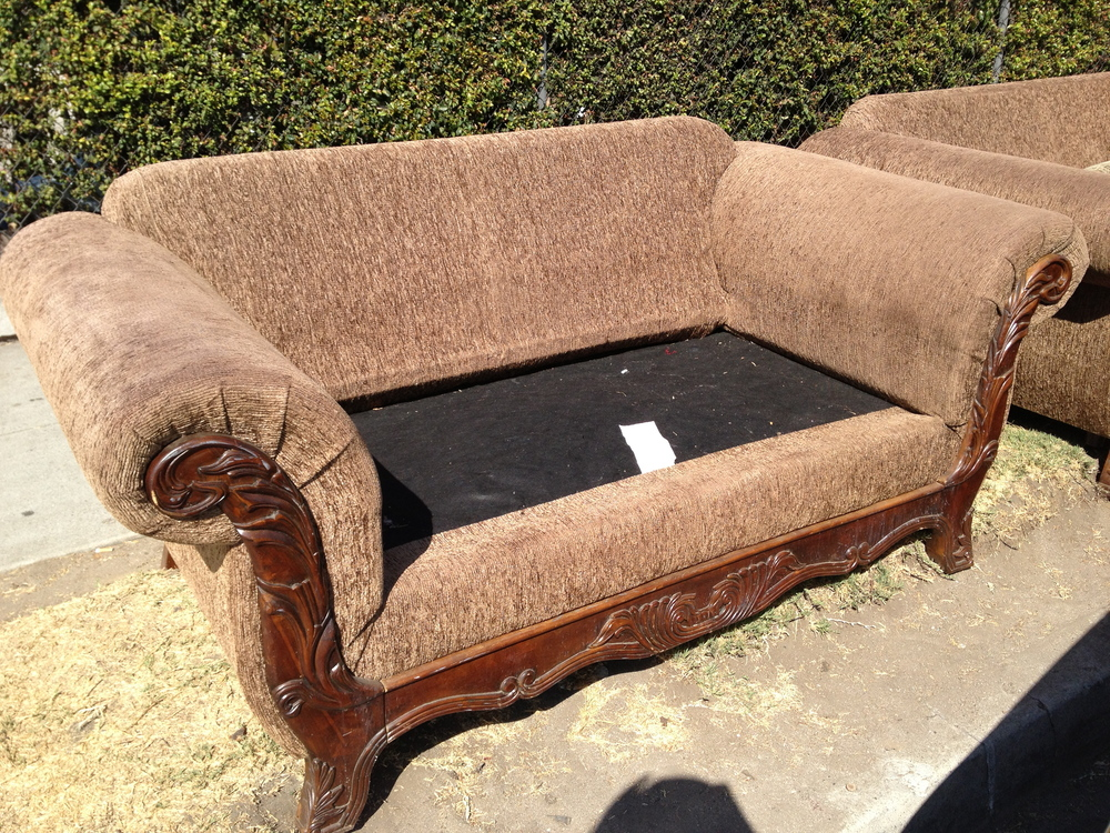 Couch as found on Venice blvd