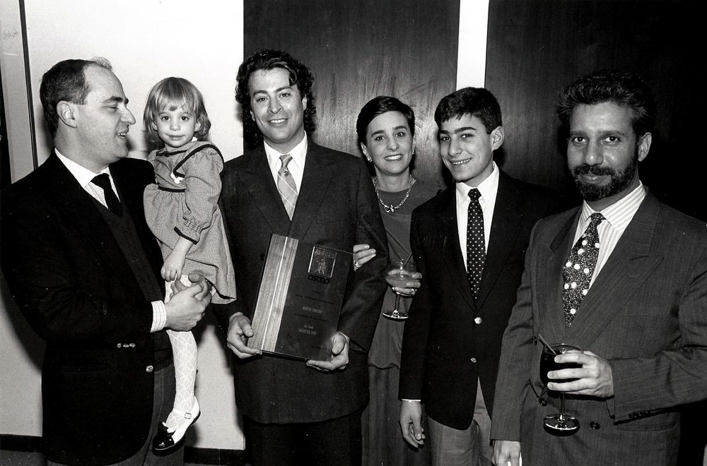 Receiving the ASCAP Deems Taylor Award, 1987