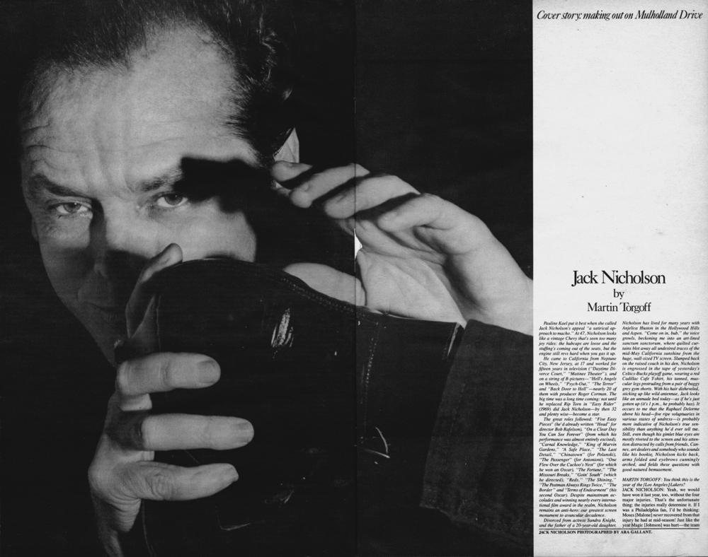 Jack Nicholson — MARTIN TORGOFF