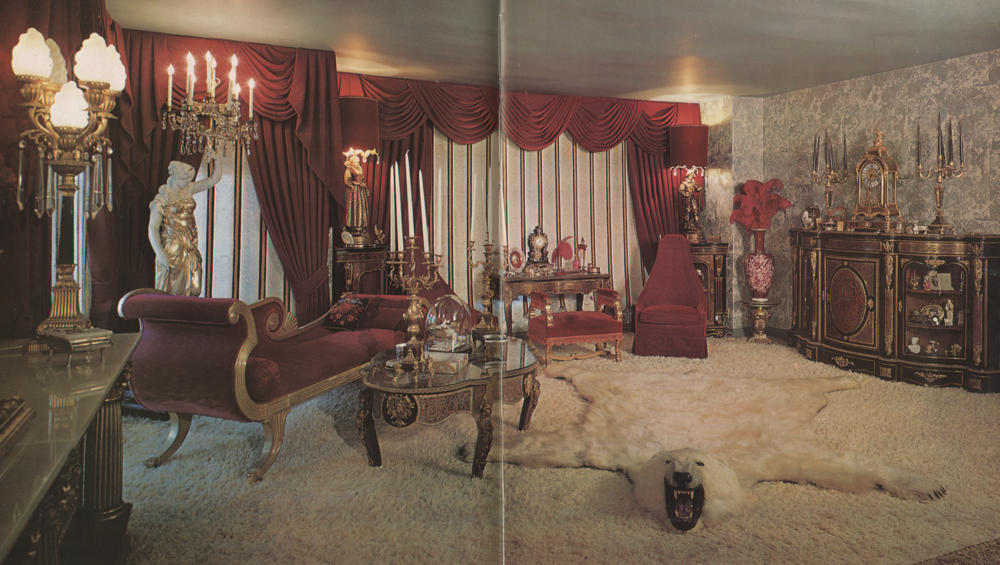 The view from Liberace's bed.