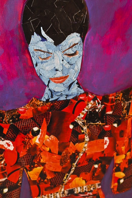 Karma Mixed Media, Collage on Canvas SOLD
