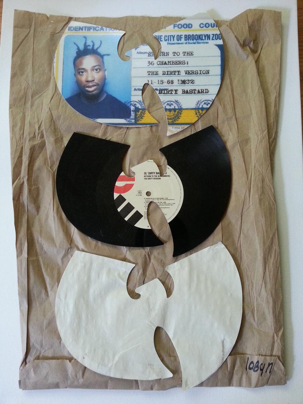 "ODB  16x20"" Vinyl, Mixed Media $450"