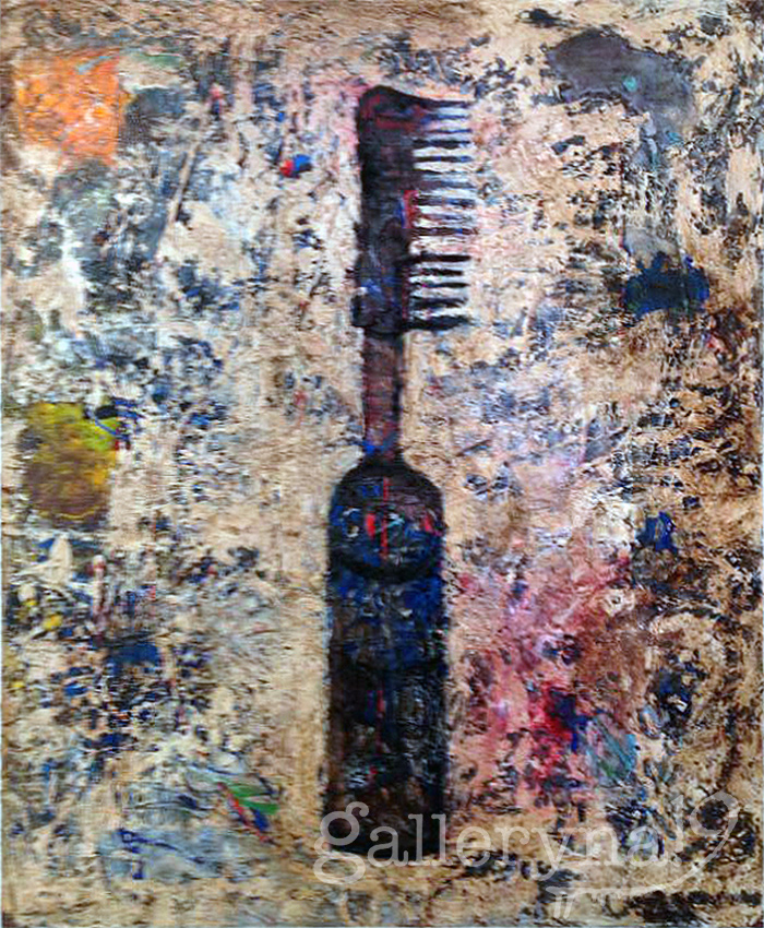 Hot Comb Oil, Acrylic on Canvas by Ferrari Sheppard $1100