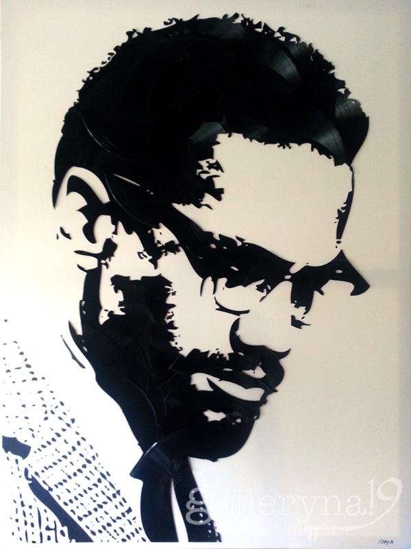 "Malcolm  36x48"" Vinyl on Canvas $3200"