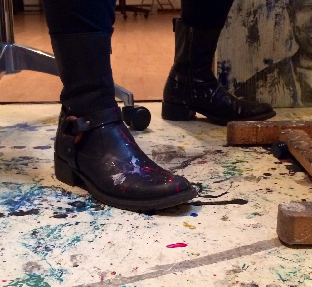 painterly boots in action