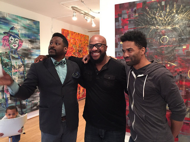 James Nelson, Chauncey Woodson, and David A. Geary at the Opening Reception.