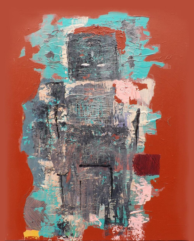 """Bois Caïman Oath  16x20"""" Mixed Media on Canvas $1100"""