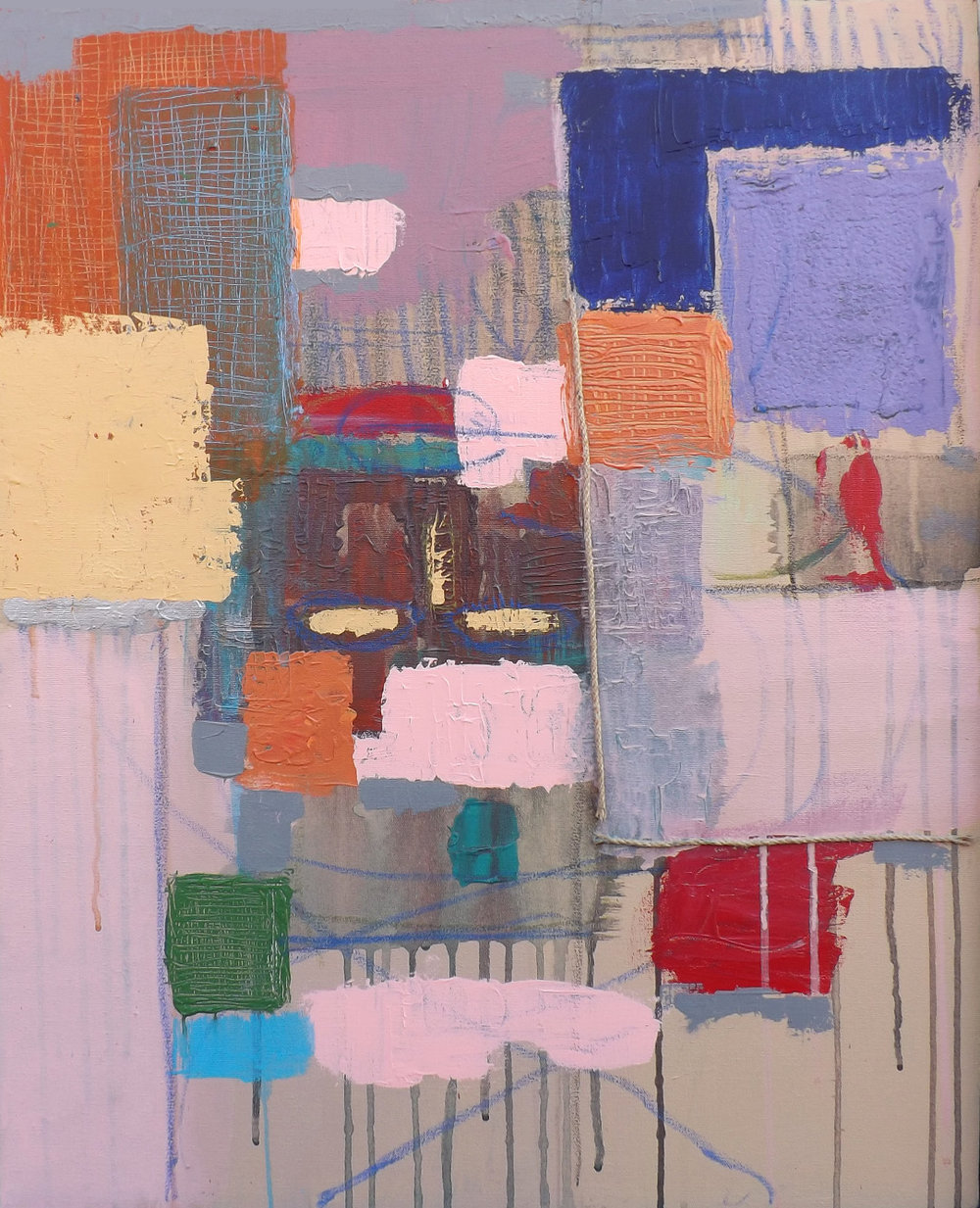 "Haymaker  24x30"" Acrylic on Canvas $1400"