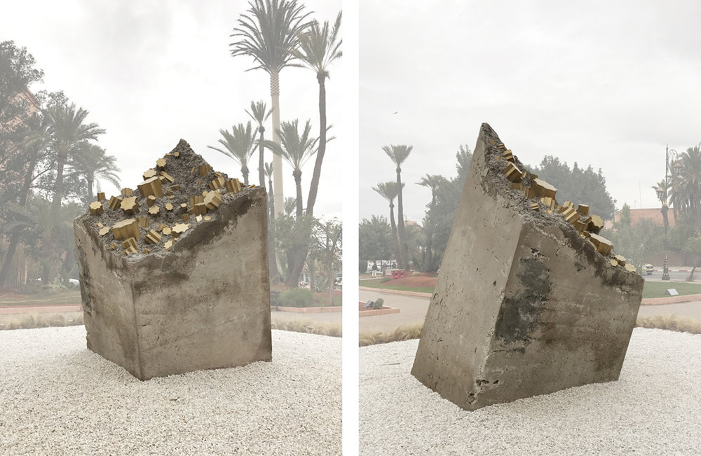 Jardin des Arts, Parc de Scuplture, Marrakech - Concrete and painted metal - 150 cm x 150 cm x 250 cm - 2017