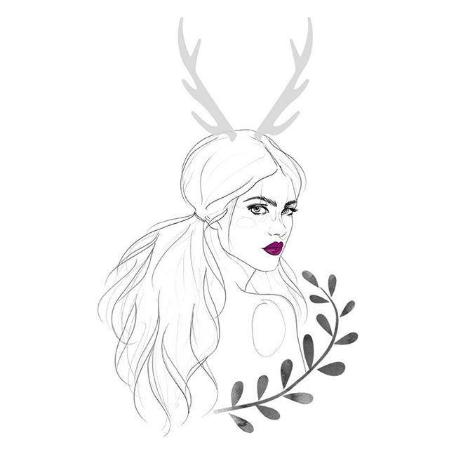 🍂extra fall vibes coming to you this Friday🍂 comment below on what you're being for Halloween! Hint: this drawing accurately represents my costume🦌 . . . . #fashionillustration #illustrationfashion #procreateillustration #fashiondrawing #pencilsketch #halloweensketch #inktober #drawing #instaart #drawingoftheday