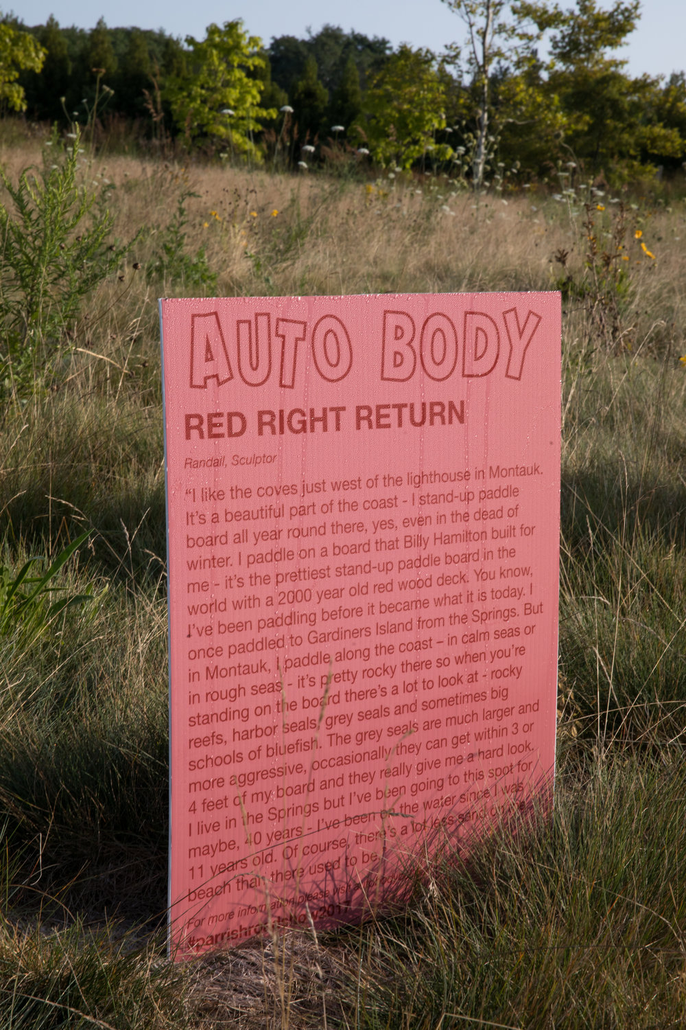 Red Right Return,  2017 ,  Auto Body.    Photo by Jenny Gorman