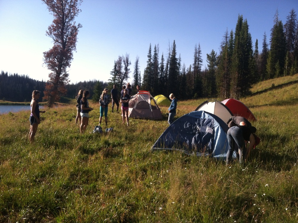 Student backcountry camp (XE photo)