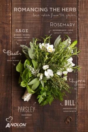 A basic herbal bouquet is always a winner...