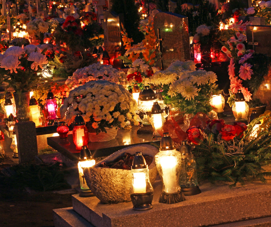 Lanterns on graves light up the night in Polish cemeteries in early November. Every soul who has gone before us is remembered during this sacred time.