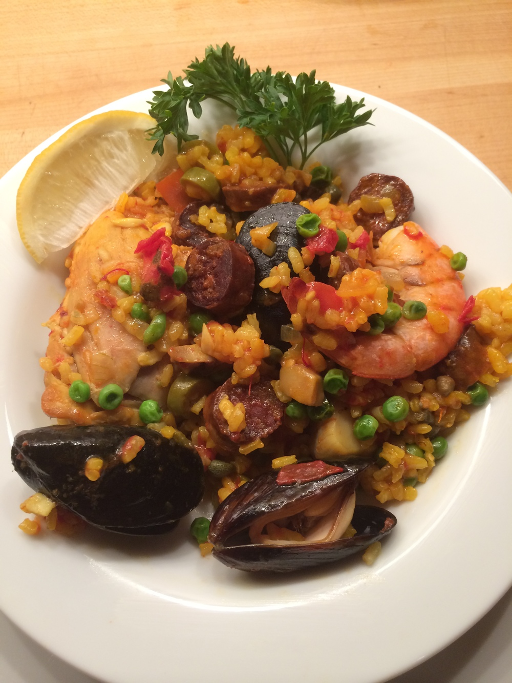 Shellfish & Chicken Paella