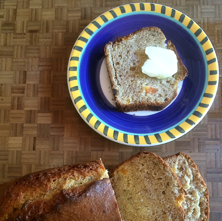 Banana bread with sour cream and dried apricots good food makes me banana breadg forumfinder Choice Image