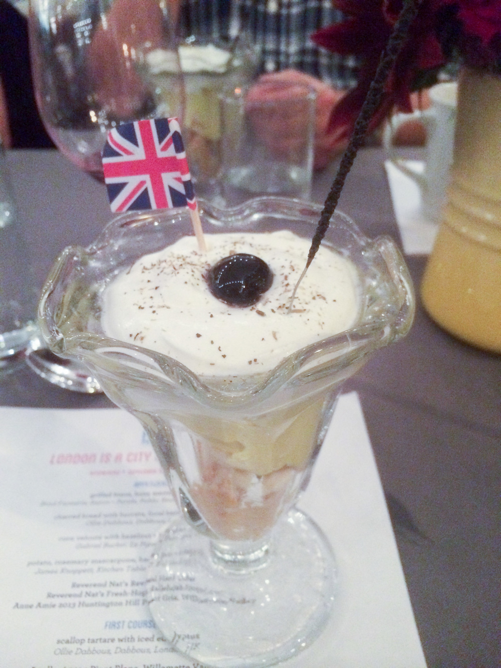 Banana + Custard Knickerbockerglory