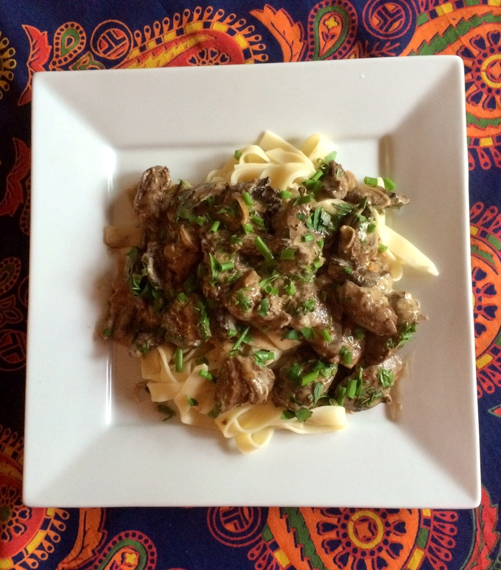 Creamy Morel Mushroom & Chicken Liver Pasta