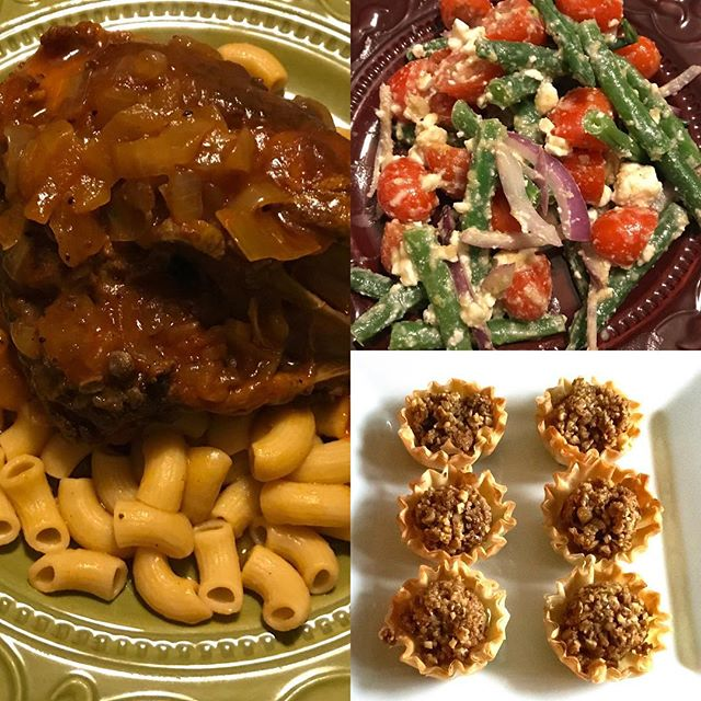 Weekend #Greek #menu —cinnamon chicken, Greek salad & mini baklava bites — homey, warming, delicious weekend meal! #chickenkapama #baklava #phyllo #blogworthy #fragrant #cinnamon #delish #chicken