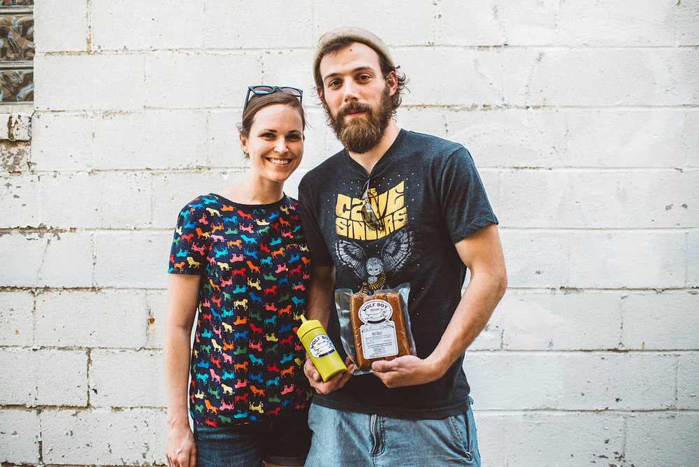 Emily Richardson and Chef Matt Baber of Wolf Boy Provisions