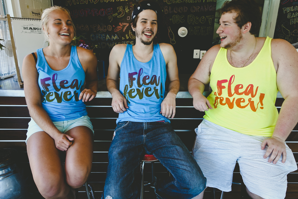 The Flea Fever tees printed at Jakprints & designed by Cleveland Clothing Co.  SPEC:    Unisex American Apparel Poly-Cotton Tank with Vintage Ink .