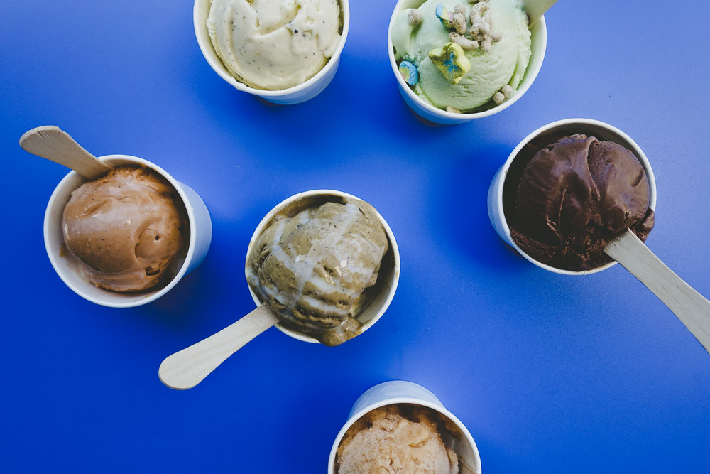 Various delicious ice creams by Mason's Creamery