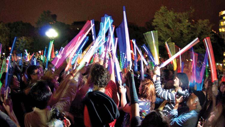 Light Saber fighting at NY Jedi