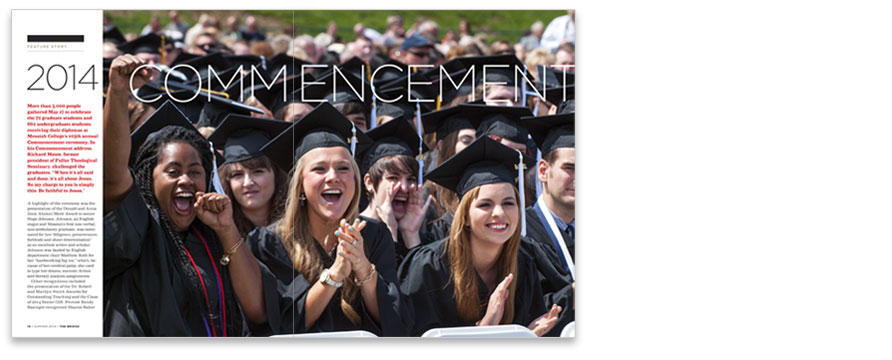 2014 COMMENCEMENT FEATURE SPREAD