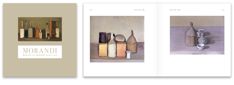 Morandi: Master of Modern Still Life. Casement cover wrapped in high quality linen.