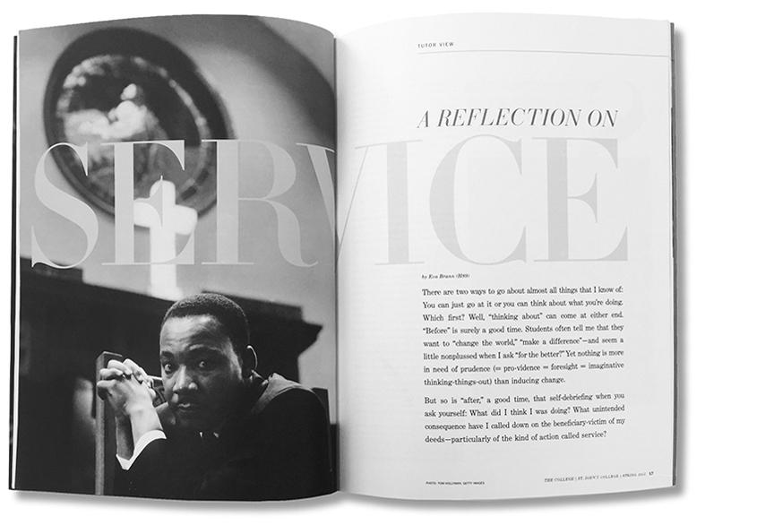 St. John's College alumni magazine, Spring 2016
