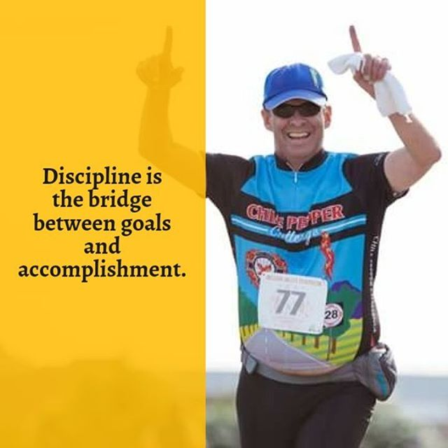 Discipline is the bridge between goals and accomplishment.  #raceelpaso #elpaso