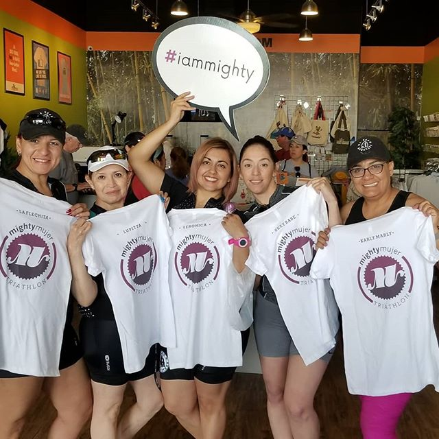 Great event at @big_frog_el_paso  We love the new Mighty Mujer T-shirts.  #raceelpaso #iammighty