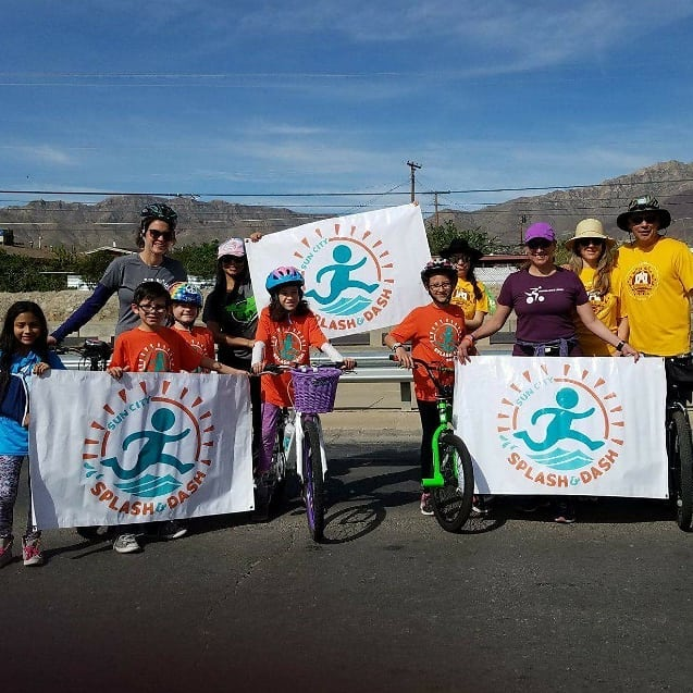 We are having so much fun at the Northeastern Parade with some of our #RaceElPasokids  #SplashDash #elpaso