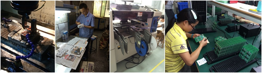 Moldmaking, injection molding, electronics assembly, and inspection: all steps in manufacturing a product.