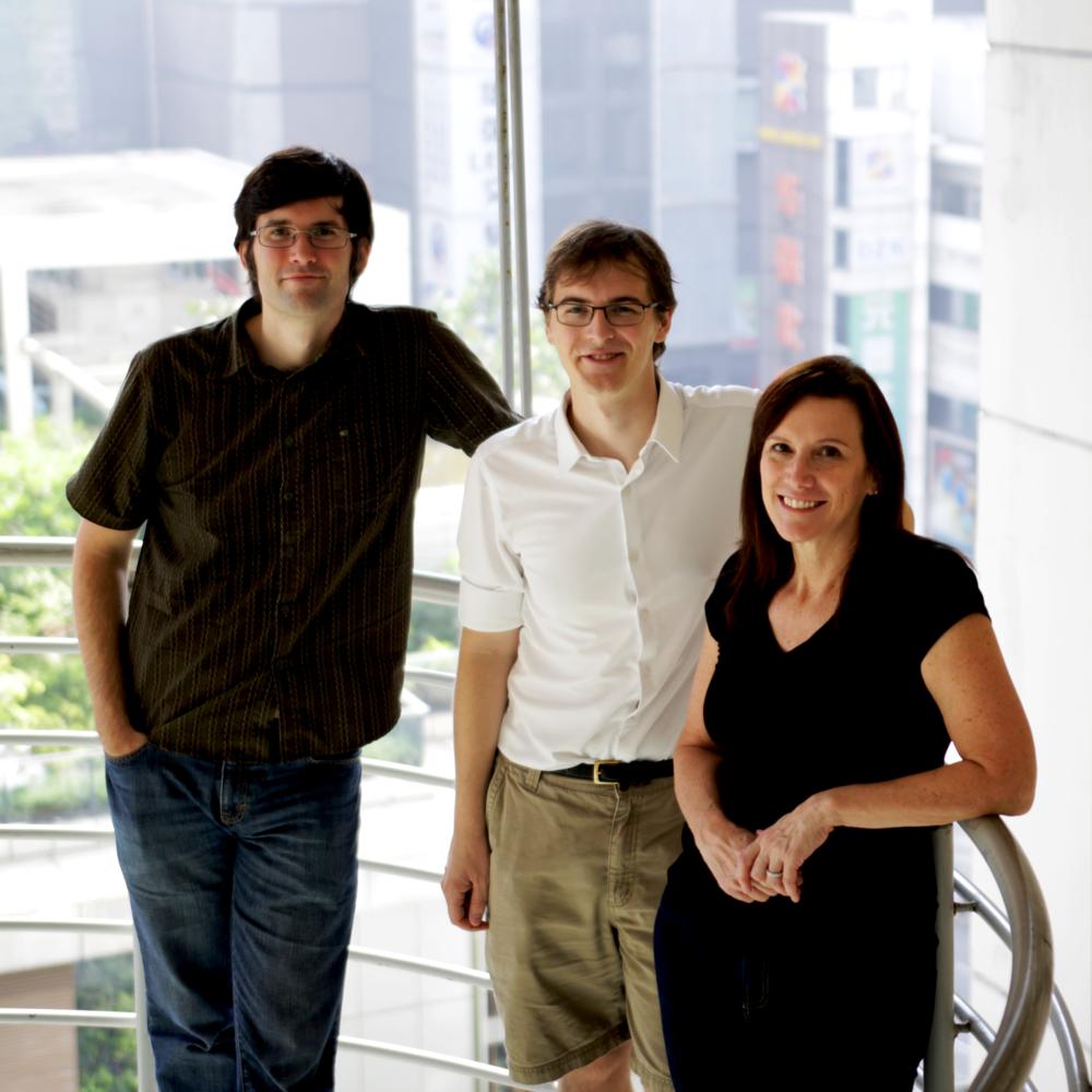 (L to R) Founders Chris Wallace, Drew Macrae, Lyssa Neel. Photo: Steve Cho.