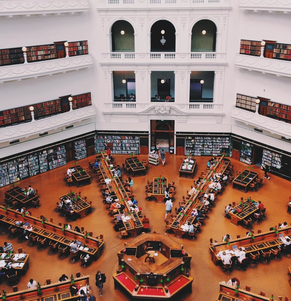 The State Library of Victoria in Melbourne, Australia